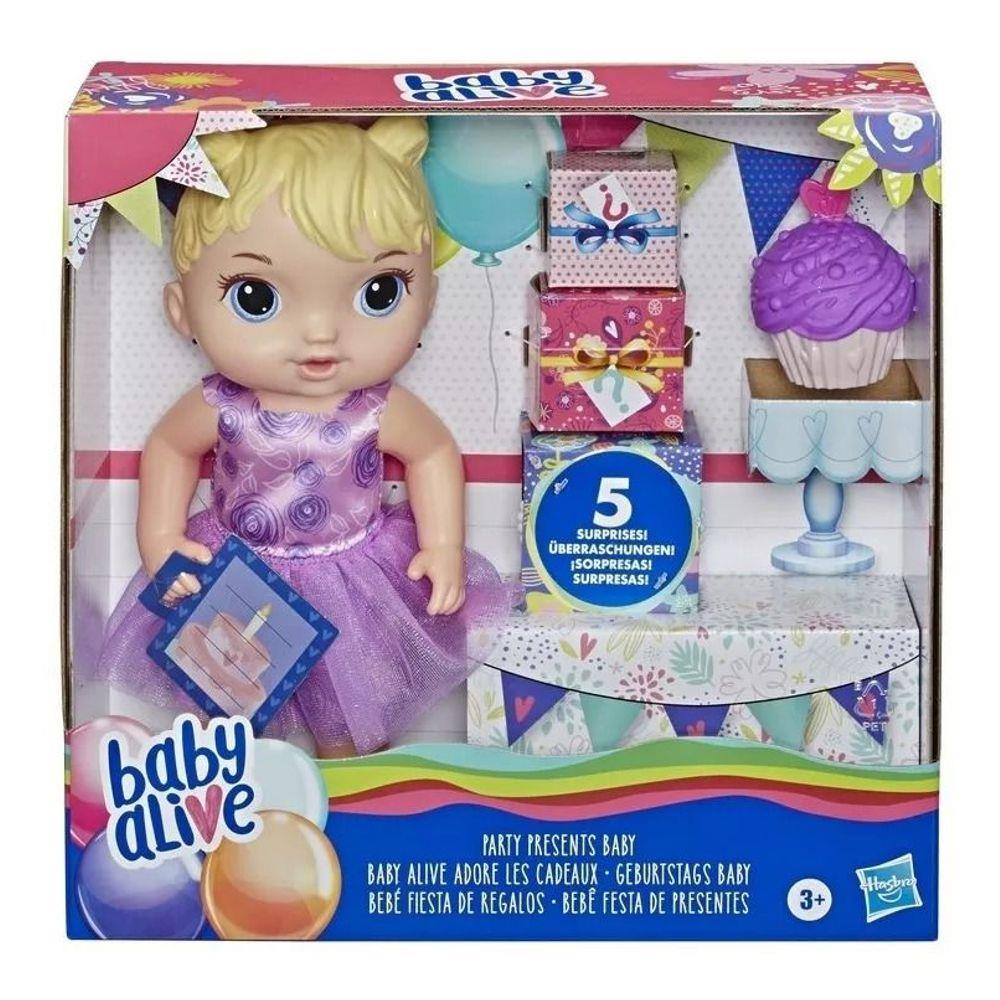 Boneca Baby Alive Bebê Festa De Presentes - Hasbro