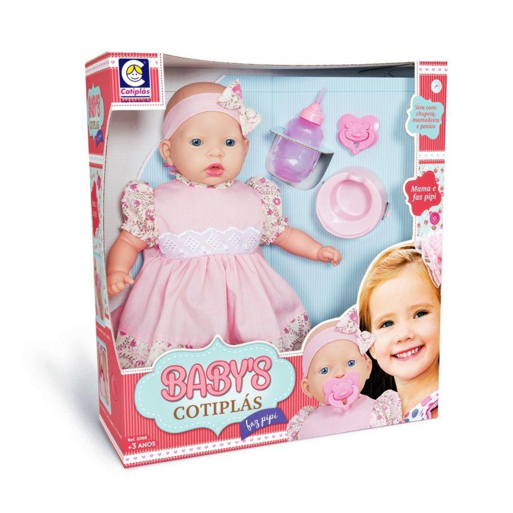 Boneca Baby Faz Pipi Com Acessórios - Cotiplás
