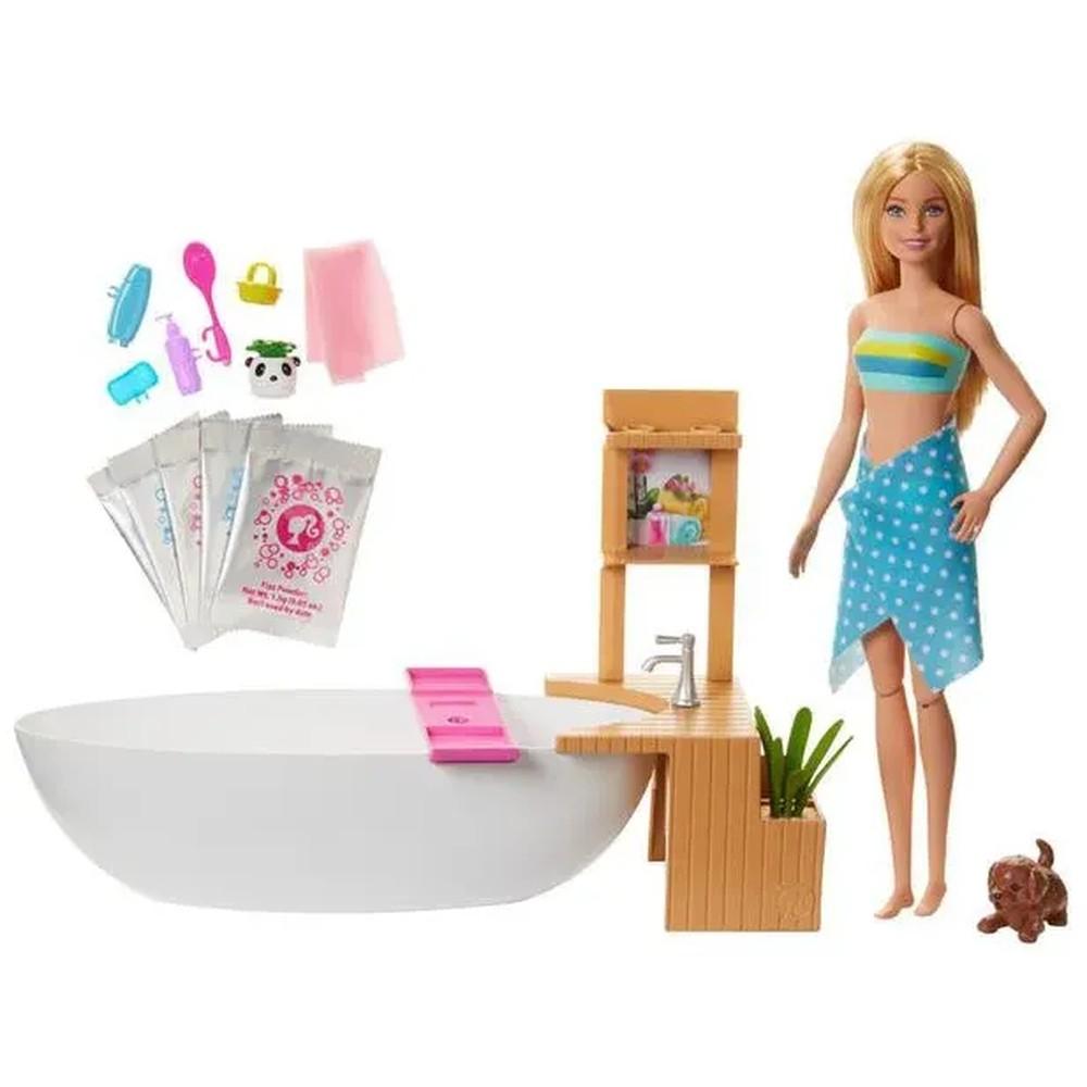 Boneca Barbie - Banho de Espumas - Mattel