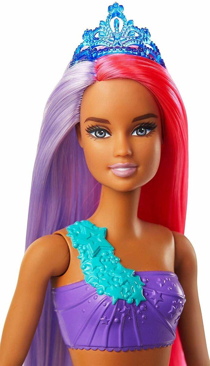 Boneca Barbie - Barbie Dreamtopia - Sereia Cabelo Roxo e Vermelho