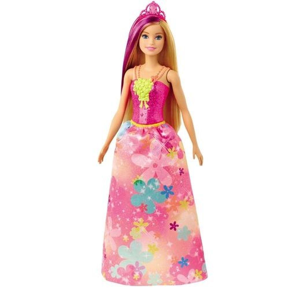 Boneca Barbie Dreamtopia Princesa Loira Vestido Flores