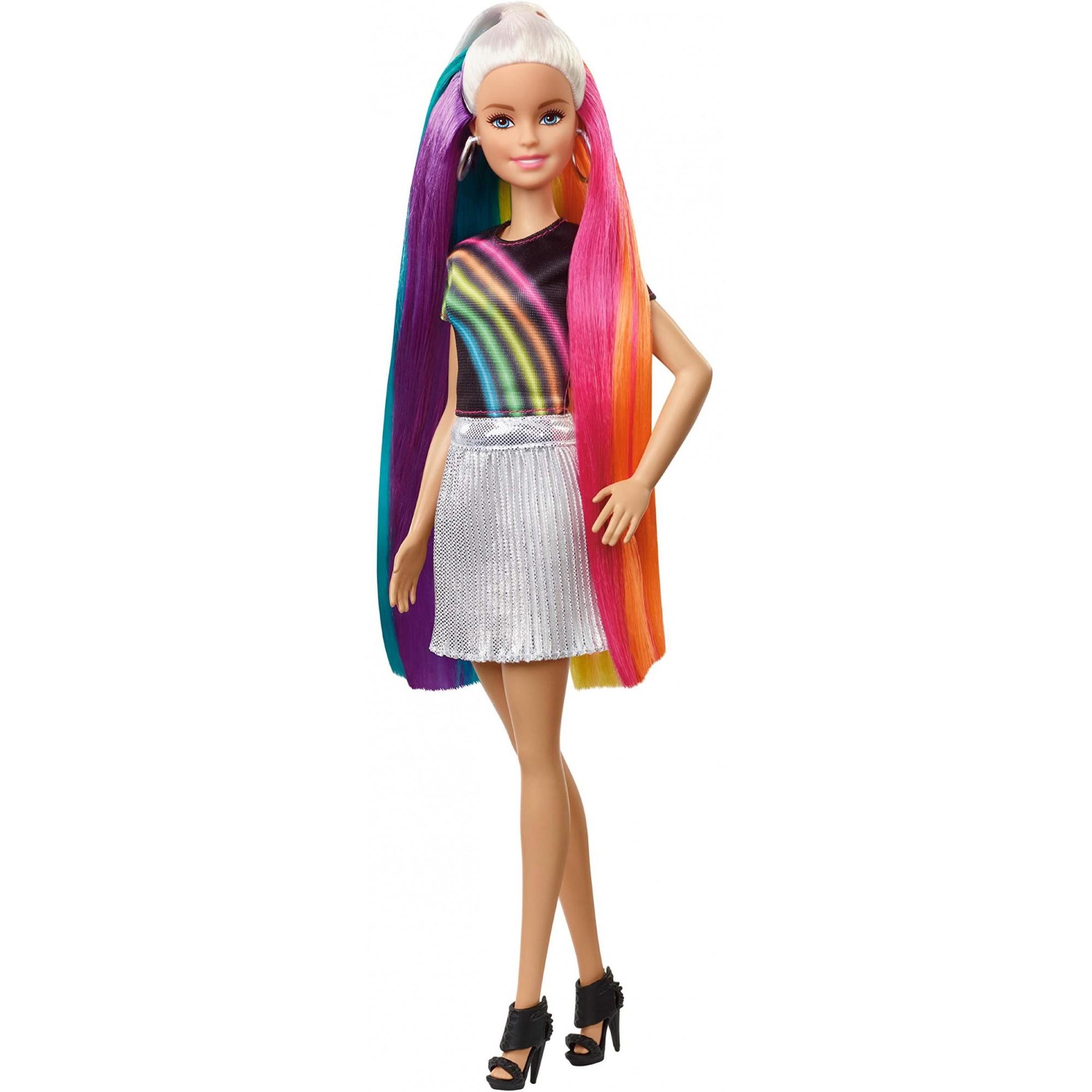 Boneca Barbie Lindos Penteados - Cabelo Arco-íris