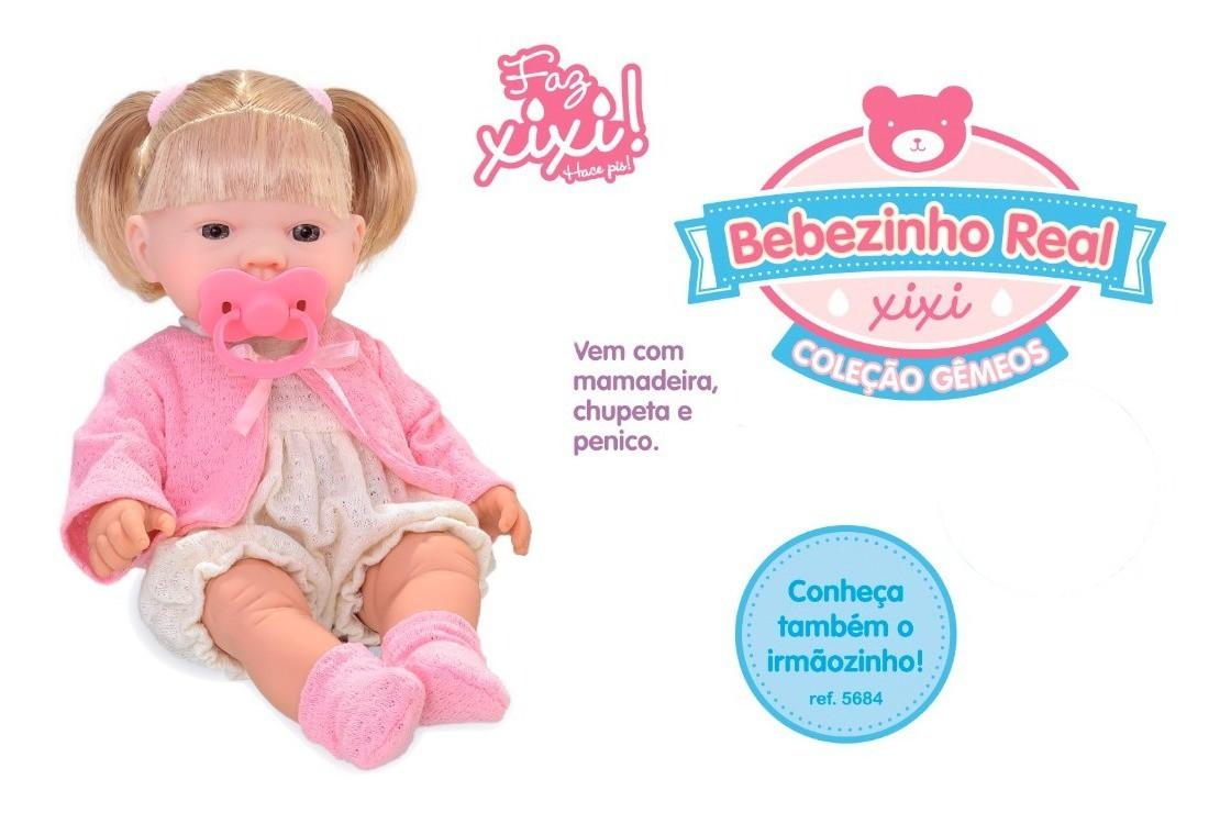Boneca Bebê Bebezinho Real Faz Xixi