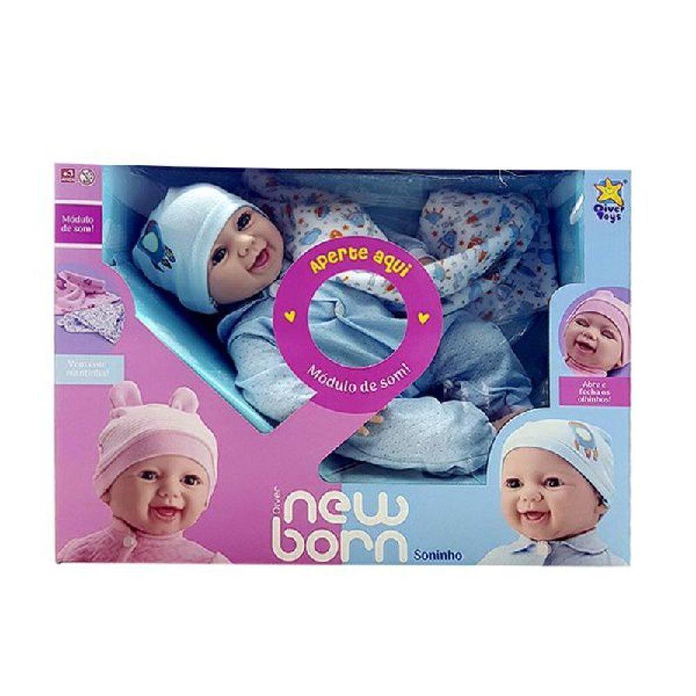 Boneca Diver Newborn Soninho Menino
