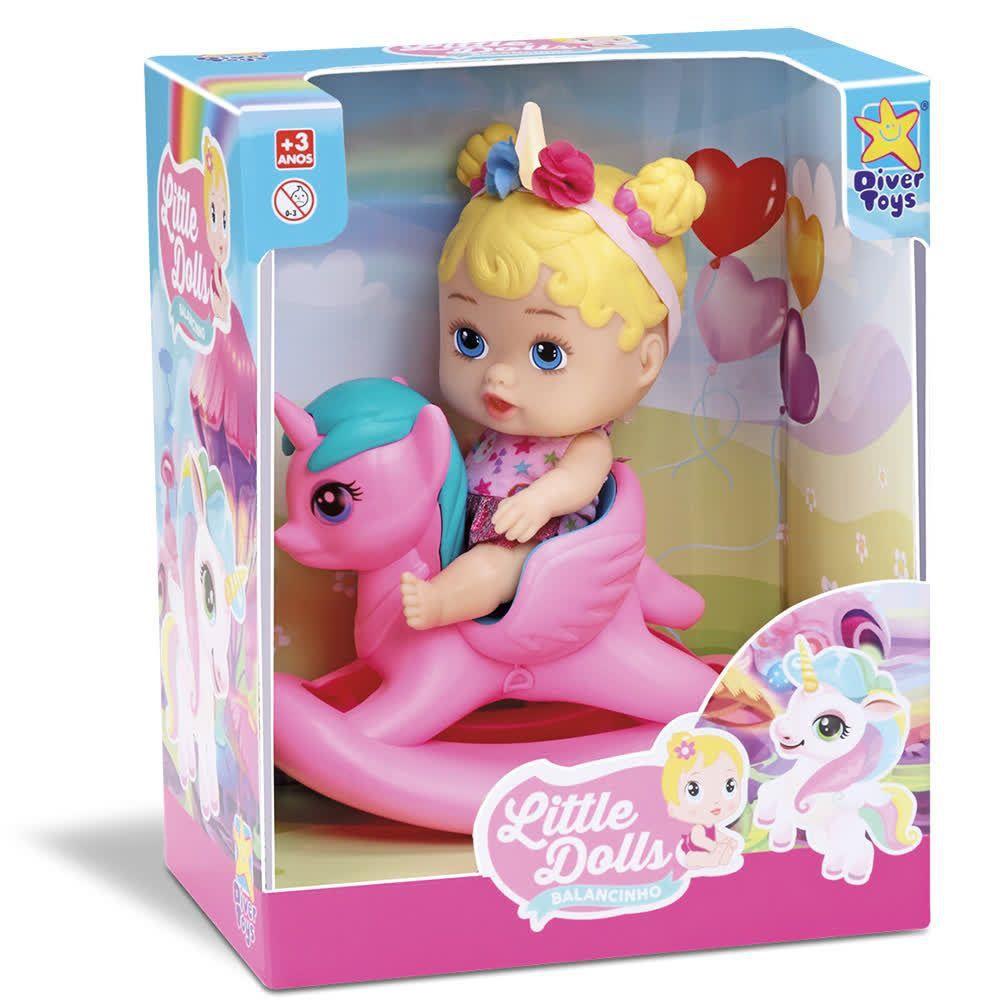 Boneca Little Dolls Balancinho Unicórnio