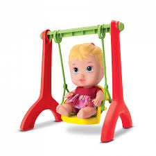 Boneca Little Dolls Playground Balancinho