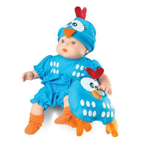 Boneca Meu Bebe Galinha Pintadinha Mini - Roma