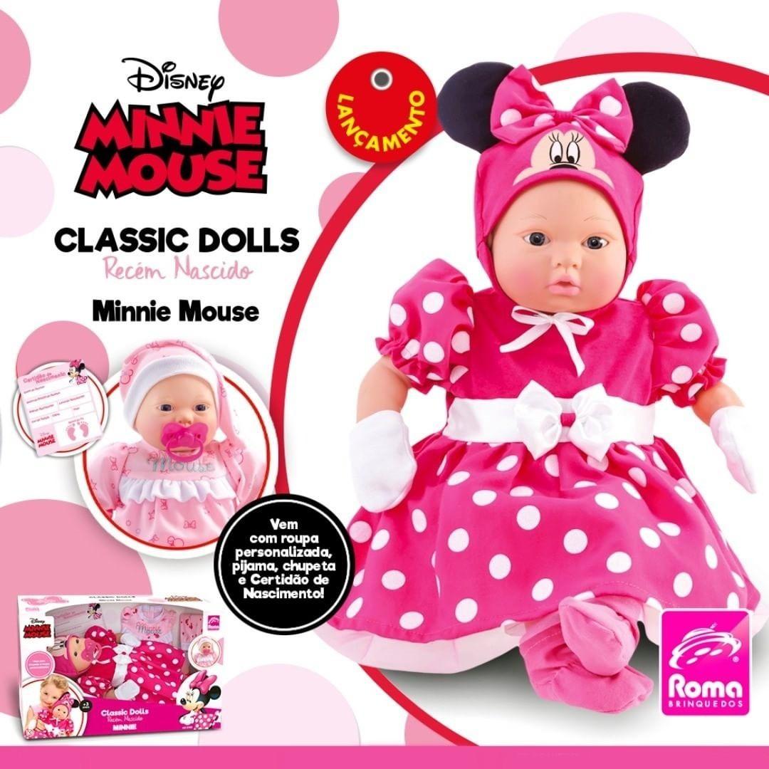 Boneca Minnie Mouse - Recém Nascido