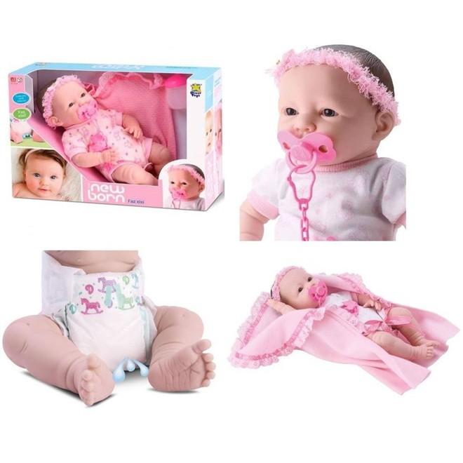 Boneca New Born Faz Xixi Com Acessórios - Diver Toys