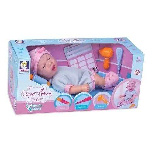Boneca Sweet Reborn Primeira Vacina - Cotiplas