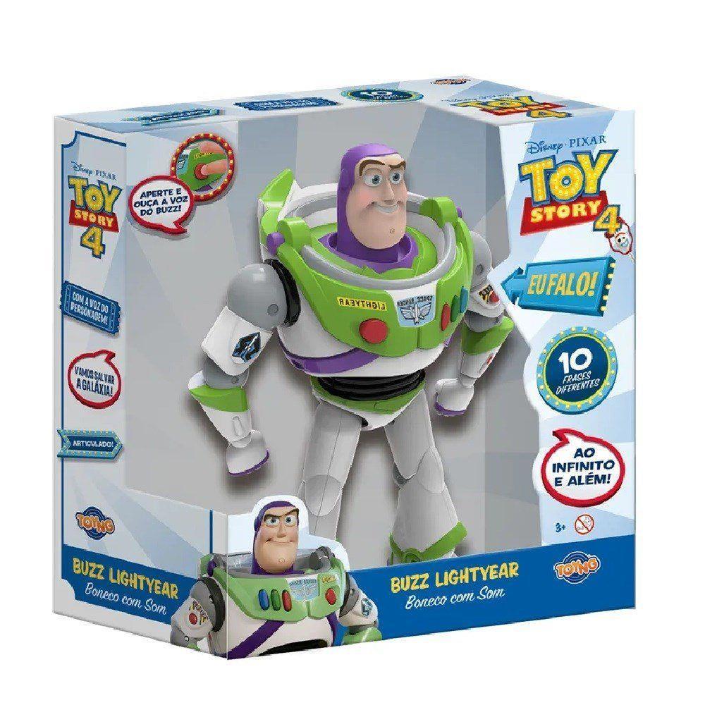 Boneco Articulado Buzz Lightyear com Sons - Toy Story 4