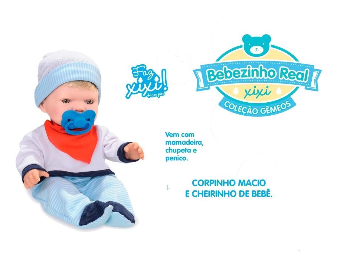 Boneco Bebezinho Real Faz Xixi Menino
