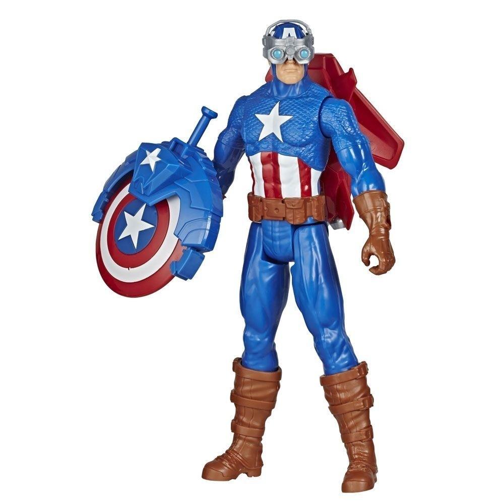 Boneco Capitão América com Acessórios