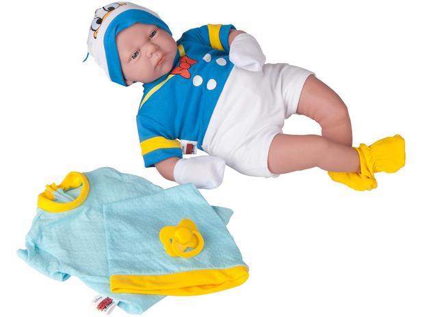 Boneco Classic Dolls Recém Nascido Pato Donald