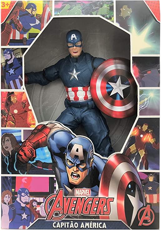 Boneco Gigante 50 Cm  Marvel Revolution - Capitão América - Mimo