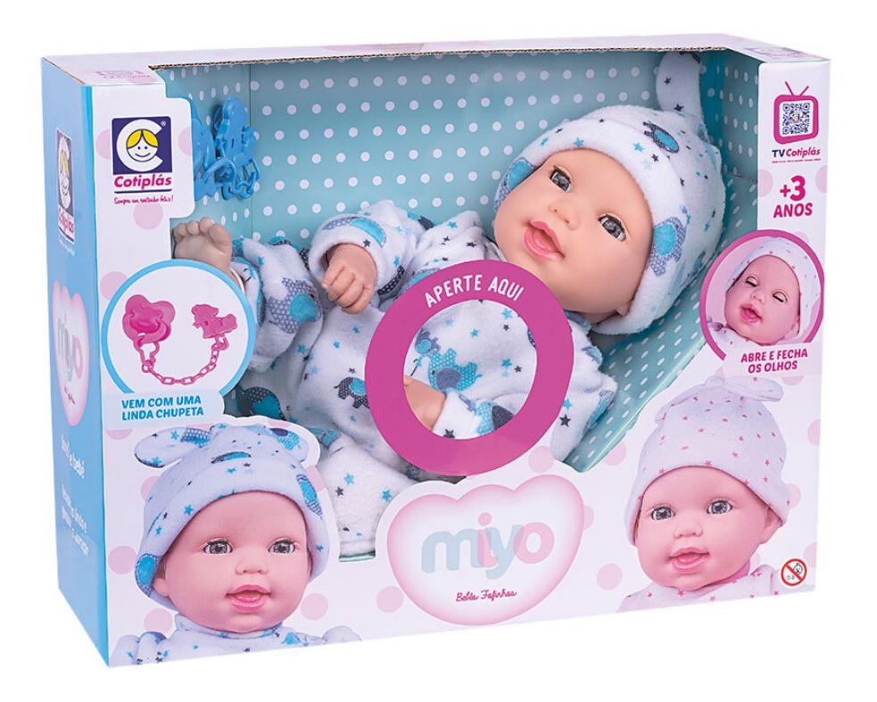 Boneco Miyo Menino Com Sons De Bebê Cotiplás