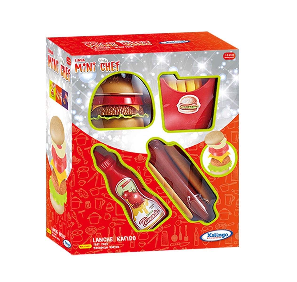 Brincadeira de Casinha - Mini Chef - Super Lanche - Xalingo