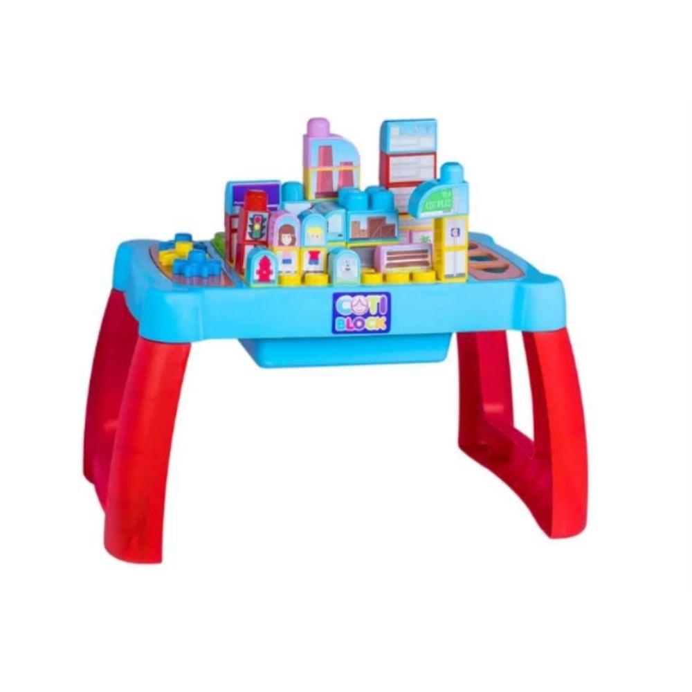 Brinquedo Infantil Mesa Interativa Didática Cotiblock