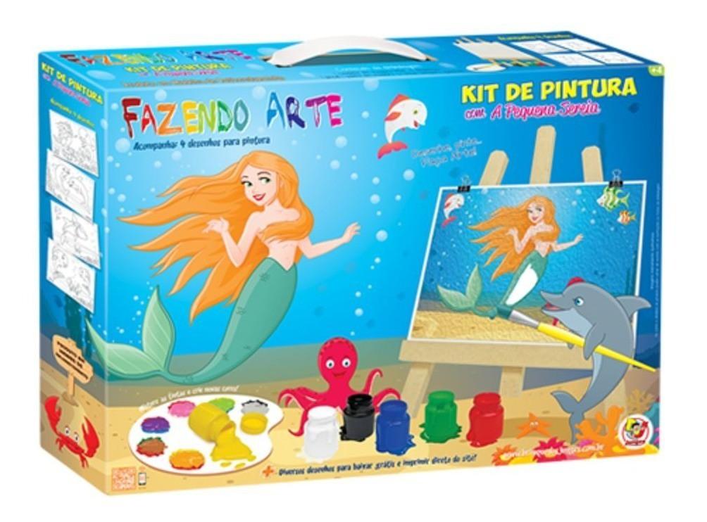 Brinquedo Kit De Pintura A Pequena Sereia