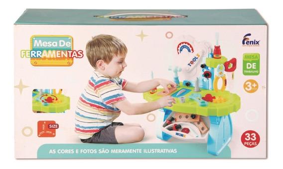 Mesa de Ferramenta 33 Peças Infantil