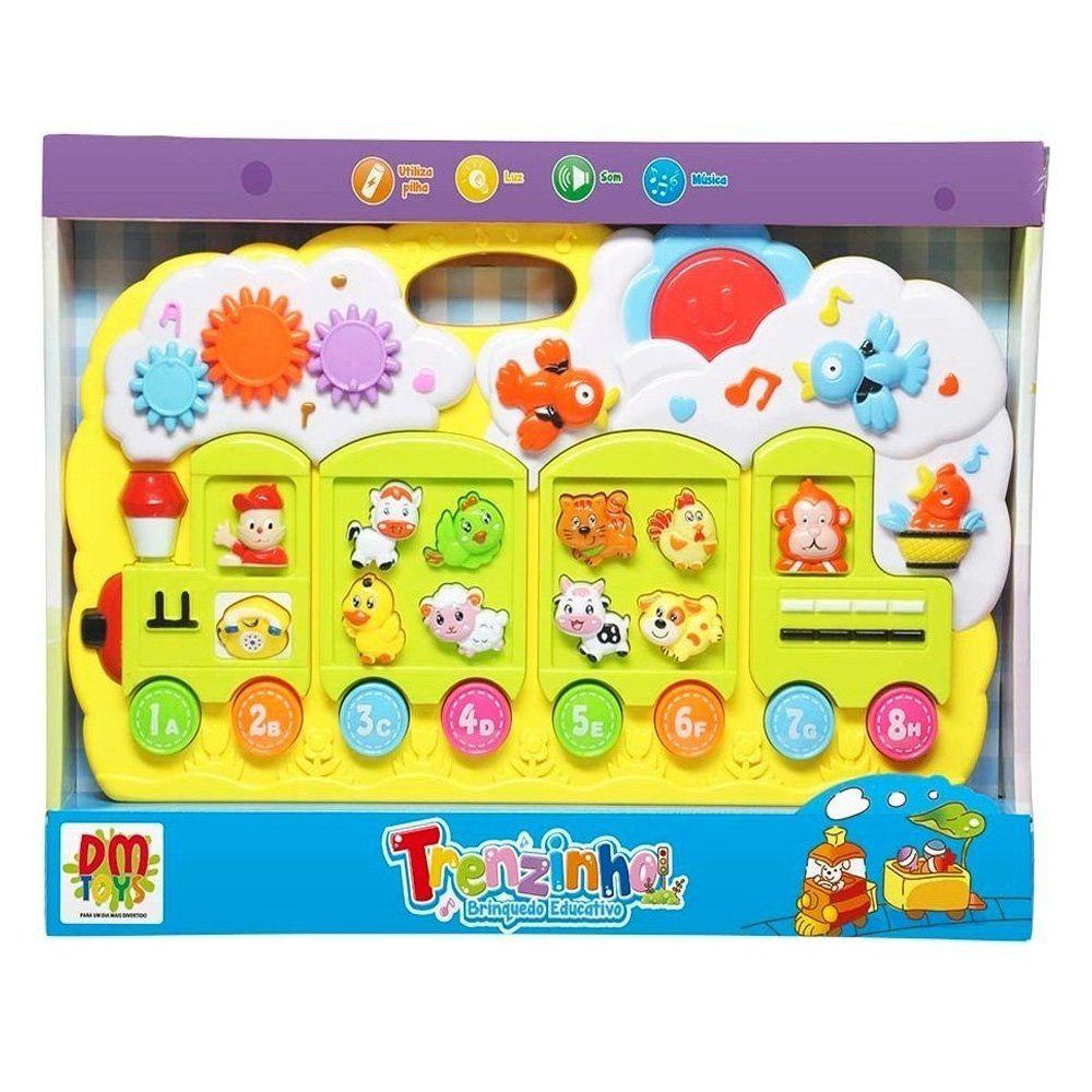 Brinquedo Teclado Educativo Trenzinho Som