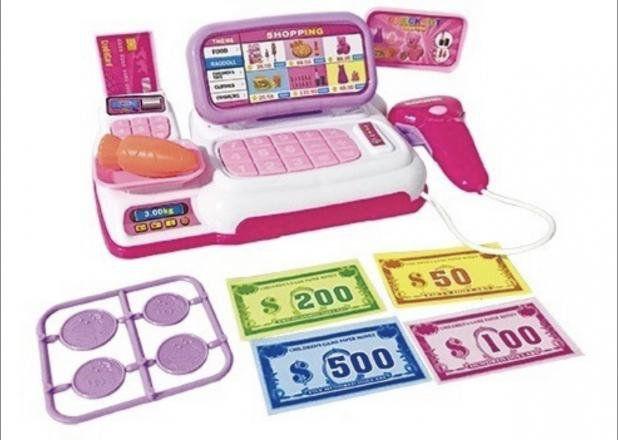 Caixa Registradora Infantil Mercadinho Menina Com Luz E Som