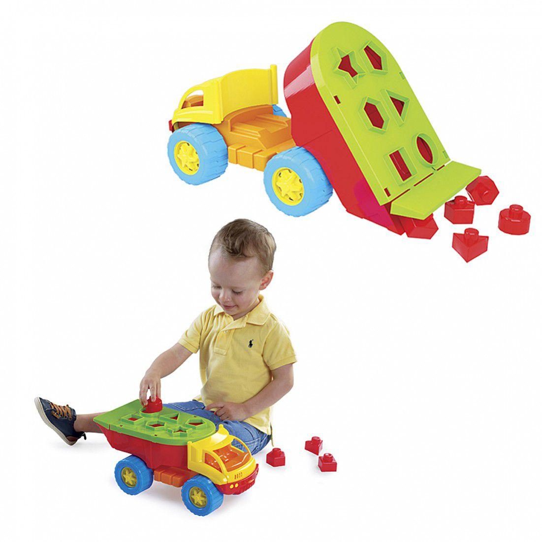 Caminhão De Brinquedo Blocos De Encaixar Iron Truck - Dismat