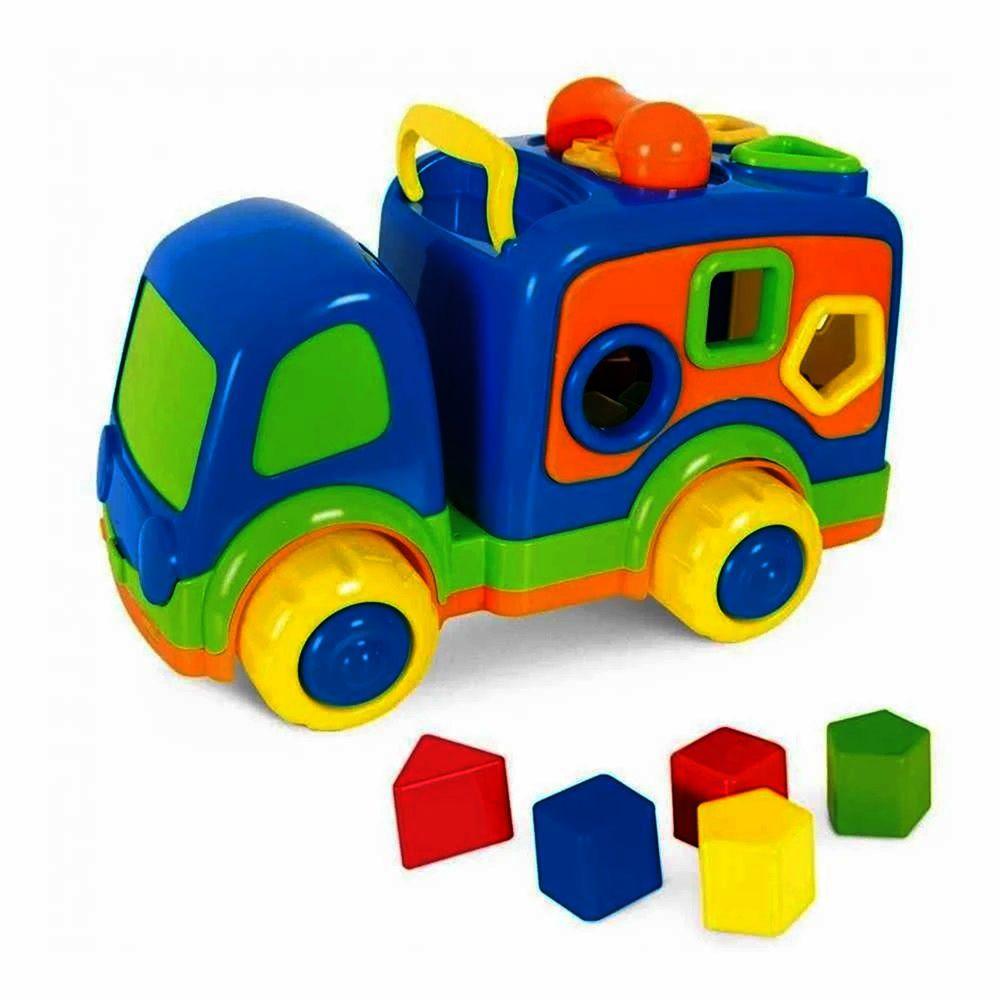 Caminhãozinho Didático Azul