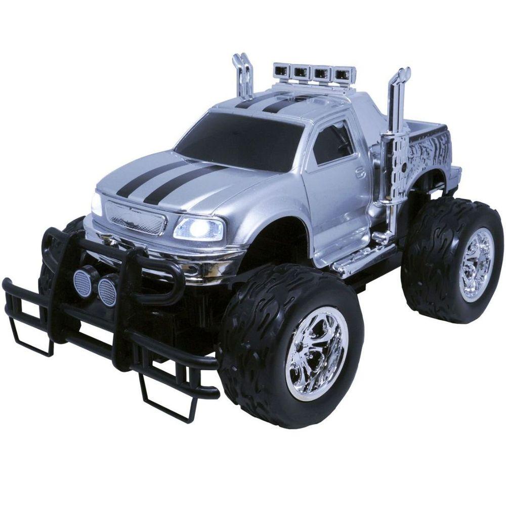 Carrinho Controle Remoto Elétrico Recarregável Picape Monster Car