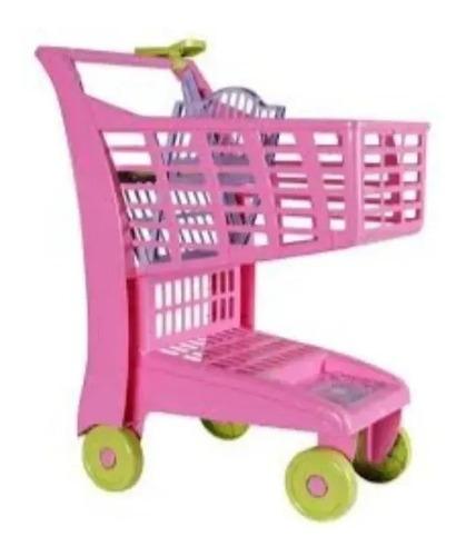 Carrinho de Mercado Infantil - Market Rosa