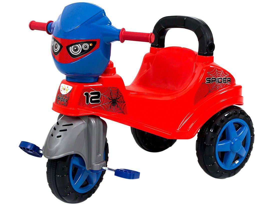 Carrinho De Passeio e Pedal Triciclo Baby City Spider