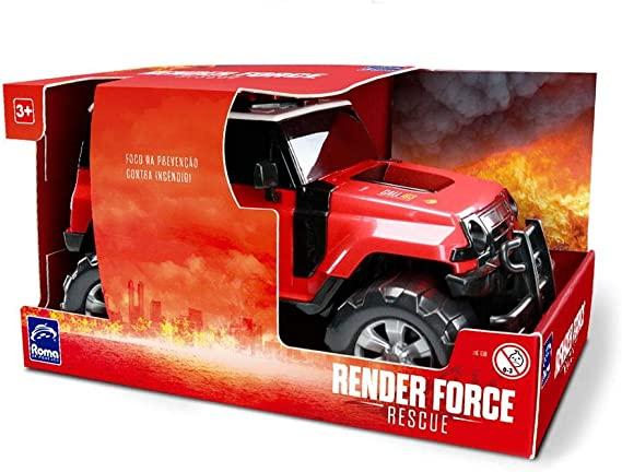 Carrinho Jeep de Bombeiro Render Force
