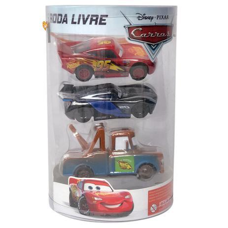 Cars 3 - Roda Livre Combo - Kit Com 3 Carros