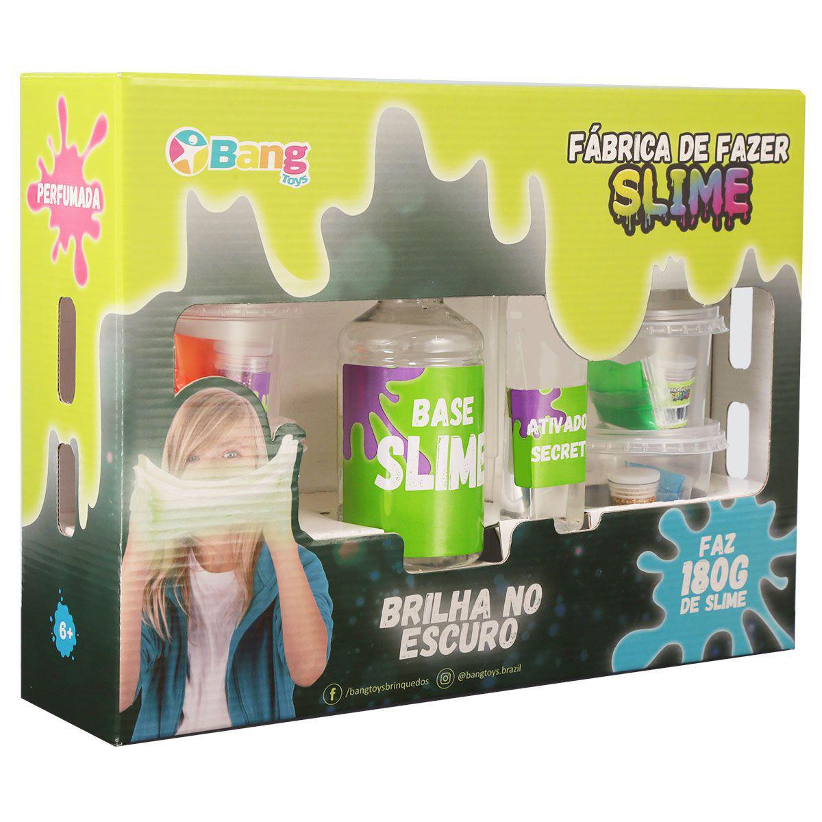 Fabrica De Fazer Slime 500g Brilha No Escuro - Bang Toys