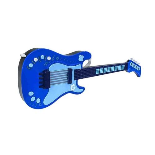 Guitarra Eletrônica Com Microfone - Infantil - Azul