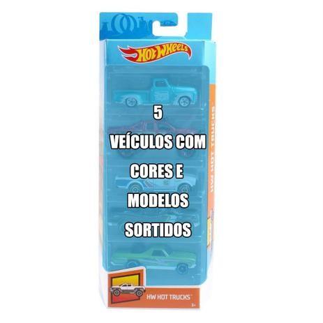 Hot Wheels Pacote Com 5 Carros Varios Modelos