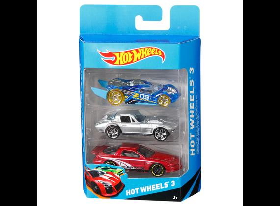 Kit com 3 Carrinhos Hot Wheels S