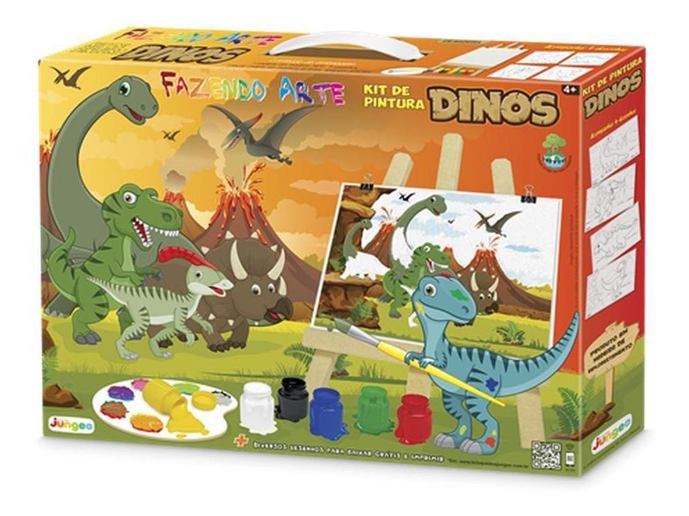 Kit de Pintura Fazendo Arte - Dino