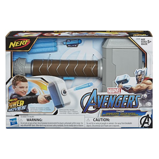 Lançador Nerf Power Moves Disney Marvel - Thor