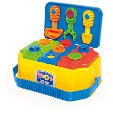 Maleta de Ferramentas Calesita Tool Kids - 3 Ferramentas e 9 Peças
