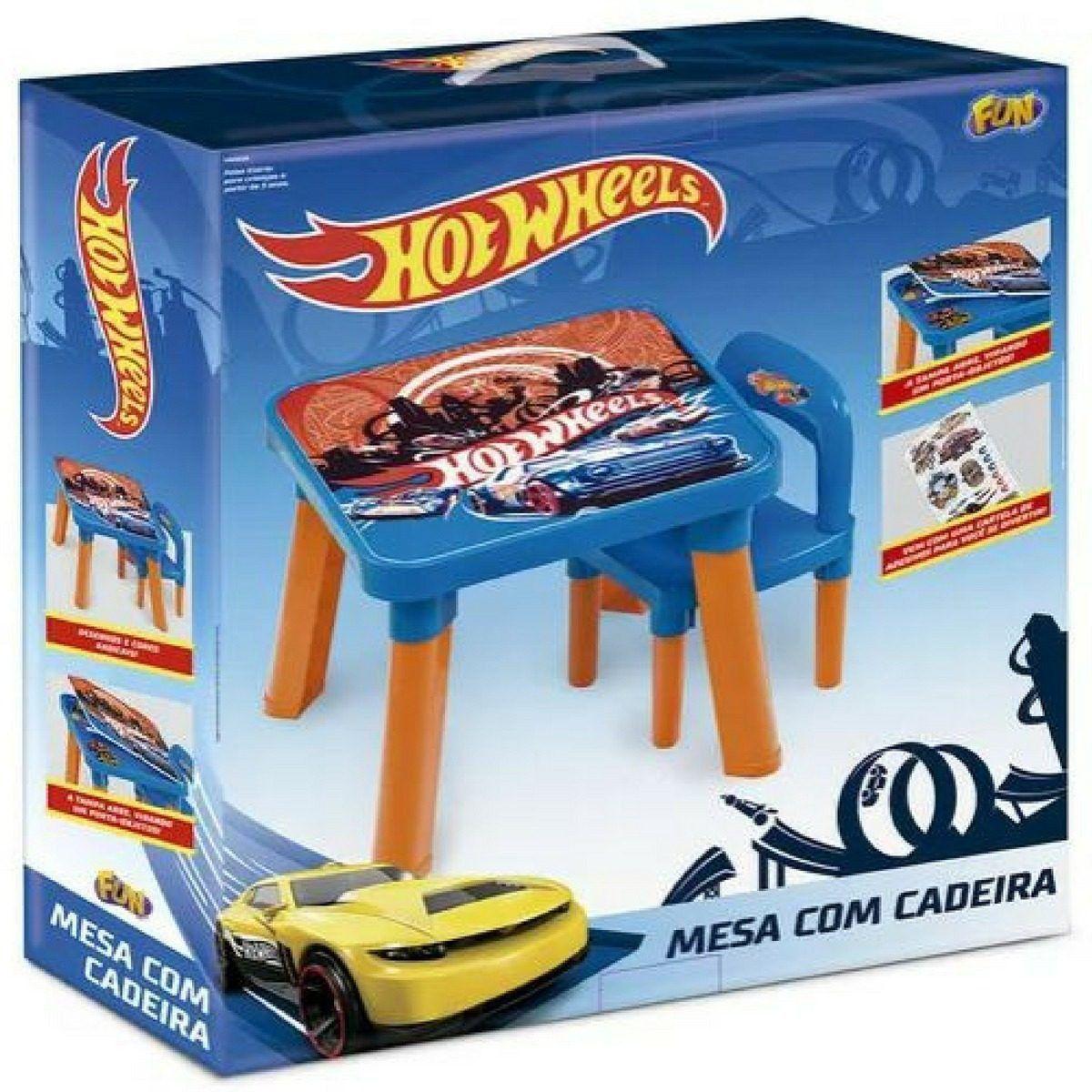 Mesa Com Cadeira Hot Wheels