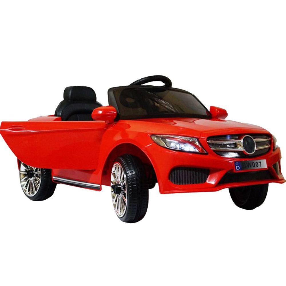 Mini Carro Elétrico Infantil Vermelho Com Controle Remoto 6v