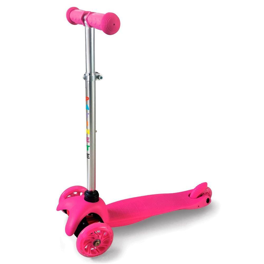 Patinete Spin 3 Rodas com Luzes - Rosa