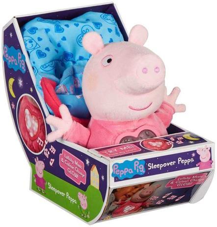 Peppa Pig Pelúcia Hora de Dormir com Luz e Som