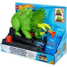Pista Ataque de Triceratops Hot Wheels