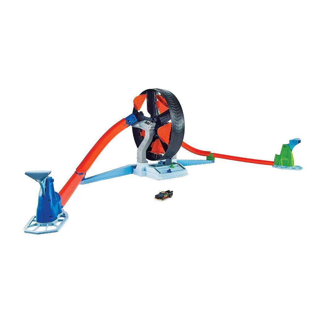 Pista de Percurso e Veículo - Hot Wheels - Action - Competição Giratória