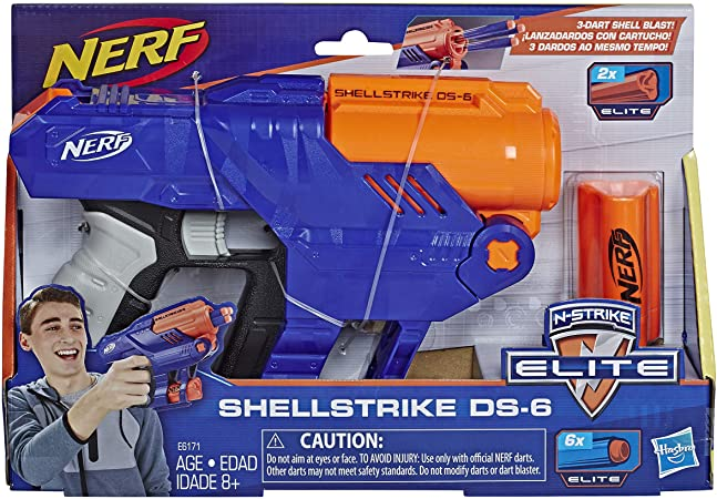 Pistola Nerf Shellstrike DS-6