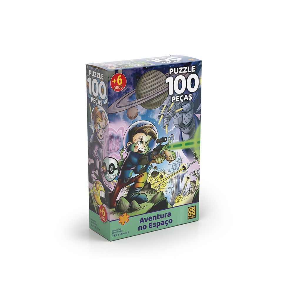 Puzzle 100 Peças Aventura No Espaço