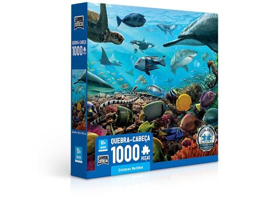 Quebra-Cabeça 1000 Peças Criaturas Marinhas - Game Office - Toyster