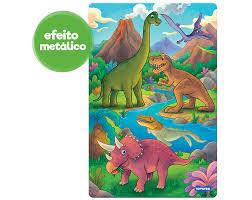 Quebra-cabeça 100 peças Reino dos Dinos